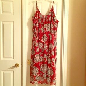 Who What Wear 4X Cute Long Maxi Floral Dress